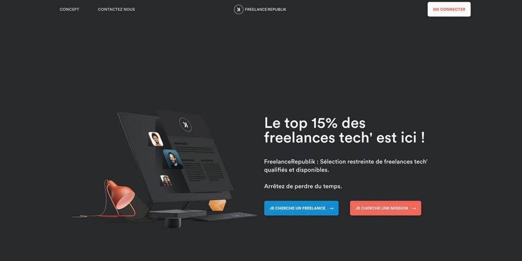 FreelanceRepublik, plateforme pour développeur tech