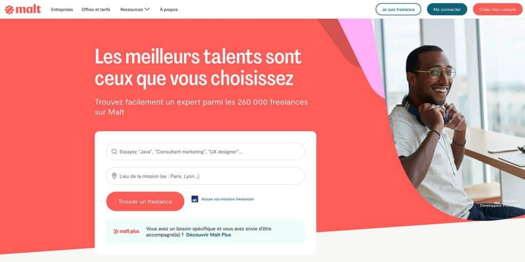 Malt, plateforme pour développeur freelance