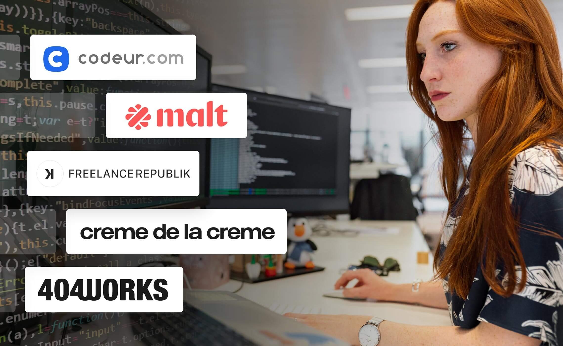 Développeur freelance : 5 communautés à rejoindre immédiatement ! Présentation de Codeur.com; Malt, FreelanceRepublik, Crème de la crème et 404Works.